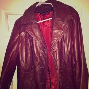 Vintage Jackets & Coats - Fight club Tyler Durden red leather jacket